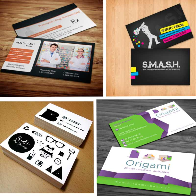 Creative double sided business cards design