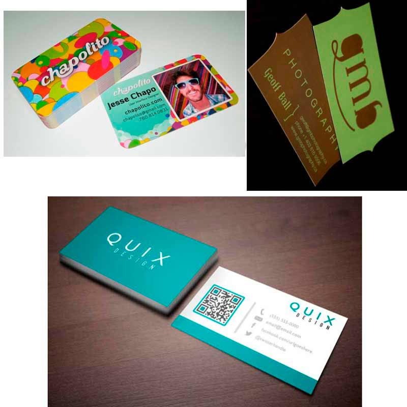 Simple two sided business cards