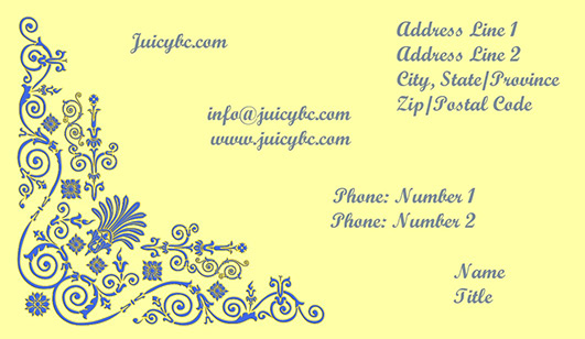 Business card elegant design idea