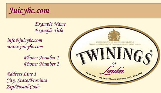 Free elegant business card templates containing logo