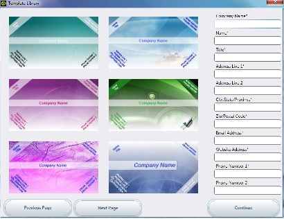 Visiting card design software