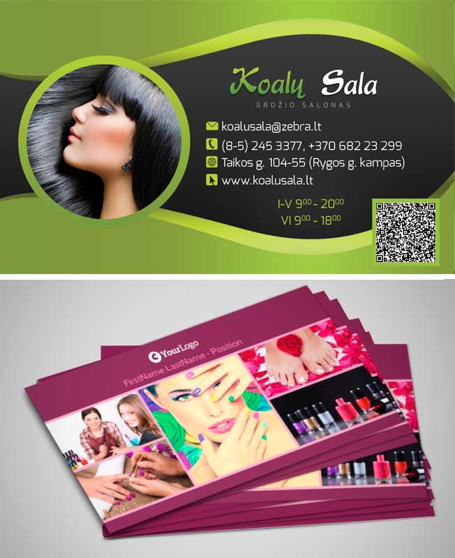 Some additional salon business card templates