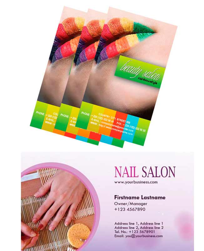 Additional salon business card designs